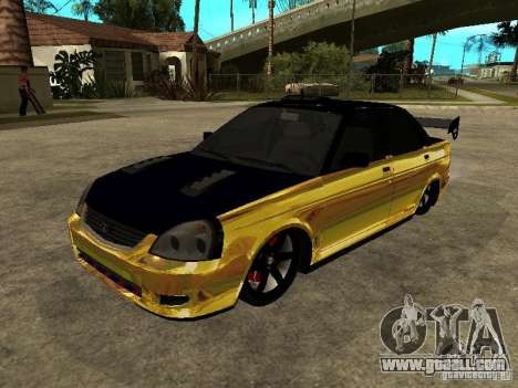 Lada 2170 Priora GOLD for GTA San Andreas side view