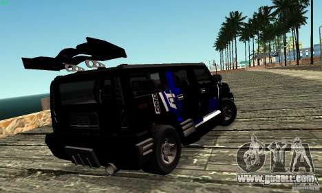 Hummer H2 Tunable for GTA San Andreas inner view