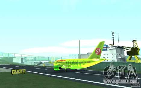 Airbus A310 S7 Airlines for GTA San Andreas back view