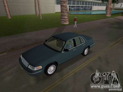 Ford Crown Victoria for GTA Vice City inner view
