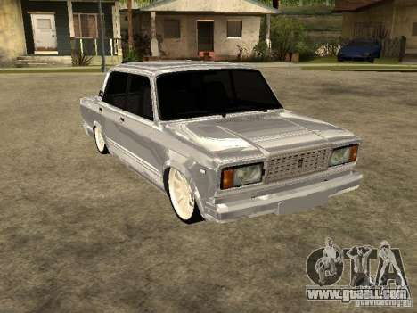 VAZ 2107 Convertible for GTA San Andreas back left view