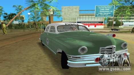 Packard Standard Eight Touring Sedan Police 1948 for GTA Vice City back left view