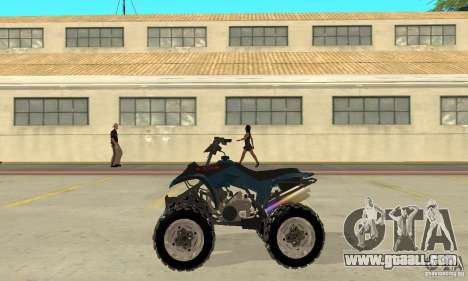 Honda Sportrax for GTA San Andreas left view