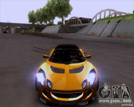 Lotus Exige for GTA San Andreas upper view