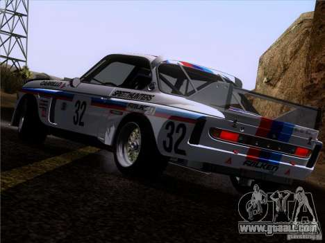 BMW CSL GR4 for GTA San Andreas bottom view