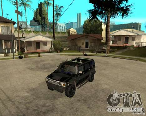 FBI Hummer H2 for GTA San Andreas back left view