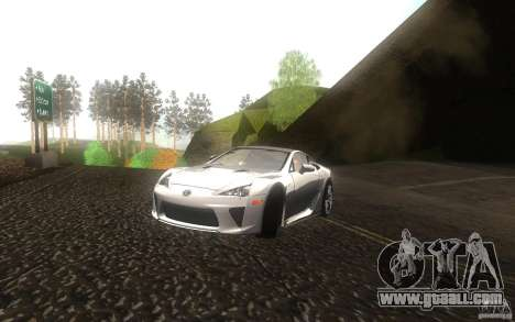 Lexus LFA for GTA San Andreas inner view