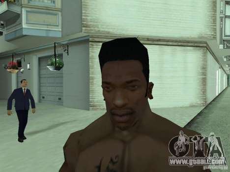 THE NEW FACE OF CJ for GTA San Andreas fifth screenshot