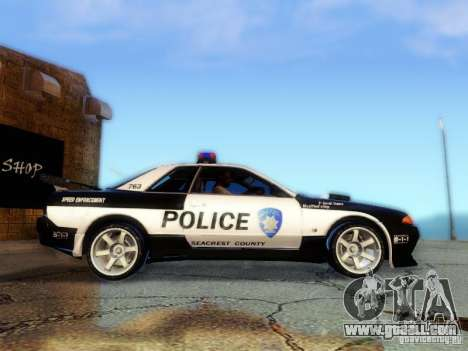 Nissan Skyline R32 Police for GTA San Andreas back left view