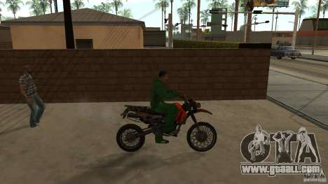 Motorcycle Mirabal for GTA San Andreas back left view