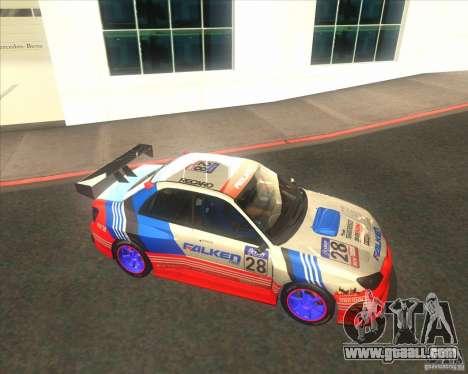 Subaru Impreza STi tuned for GTA San Andreas inner view