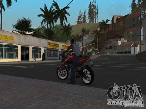 Bajaj Pulsar 200NS 2012 for GTA San Andreas left view