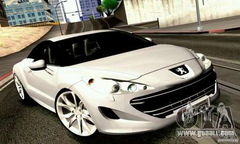 Peugeot Rcz 2011 for GTA San Andreas right view