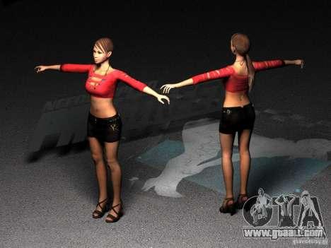 Skin Girl NFS PS for GTA San Andreas