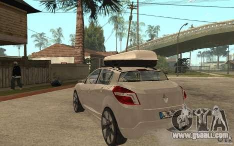 Renault Megane III for GTA San Andreas back left view