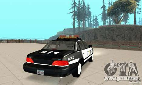 Ford Taurus 1992 Police for GTA San Andreas back left view
