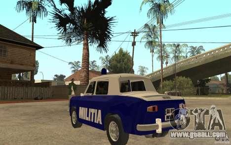 Dacia 1100 Militie for GTA San Andreas back left view