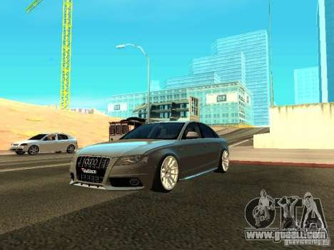 Audi S4 2010 for GTA San Andreas upper view