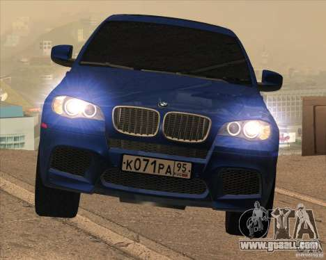 BMW X6 M E71 for GTA San Andreas inner view