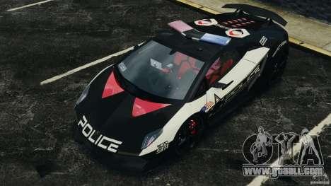 Lamborghini Sesto Elemento 2011 Police v1.0 ELS for GTA 4 wheels