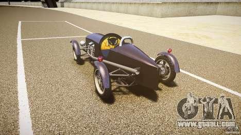 Vintage race car for GTA 4 back left view