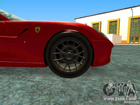 Ferrari 599 GTB for GTA San Andreas right view