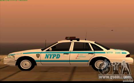 Ford Crown Victoria 1992 NYPD for GTA San Andreas left view
