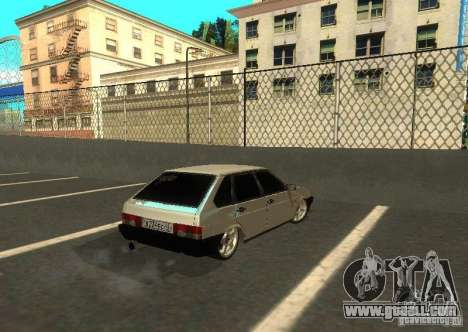 Vaz 2109 AK-47 for GTA San Andreas back left view