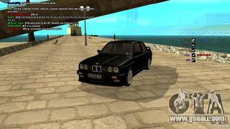BMW M3 E30 1989 for GTA San Andreas