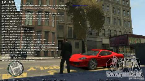 Simple Trainer Version 6.2 for 1.0.1.0-1.0.0.4 for GTA 4 second screenshot