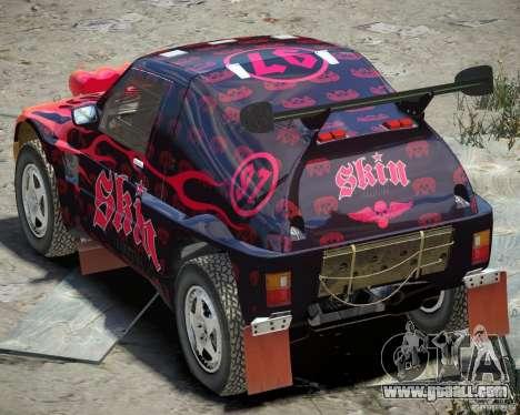 Mitsubishi Pajero Proto Dakar EK86 Vinyl 4 for GTA 4 right view