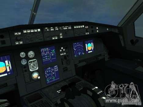 The Airbus A330-300 Aeroflot for GTA San Andreas inner view