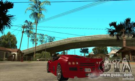 SSC Ultimate Aero Stock version for GTA San Andreas back left view