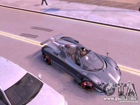 Pagani Zonda Cinque Roadster v 2.0 for GTA 4 back left view