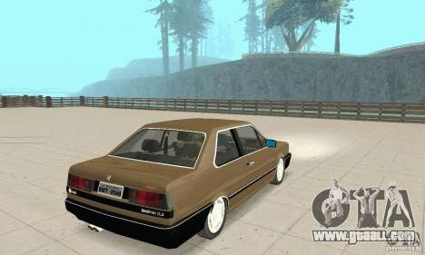 Volkswagen Santana GLS 1989 for GTA San Andreas back left view