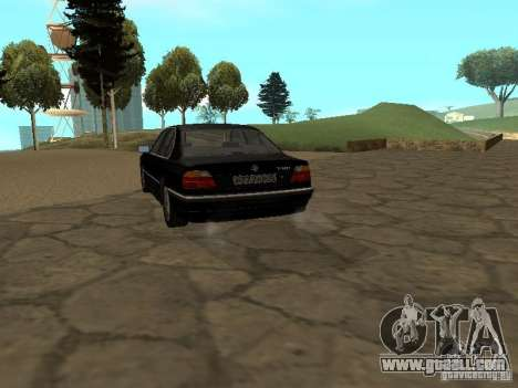 BMW 740I E38 (RUS) for GTA San Andreas back left view