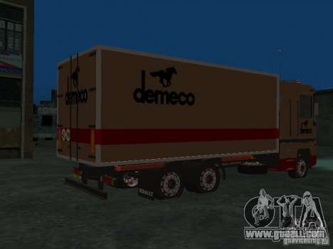 Renault Magnum Demeco for GTA San Andreas right view