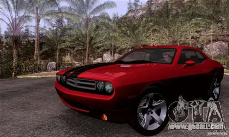 Dodge Challenger SRT8 for GTA San Andreas back view