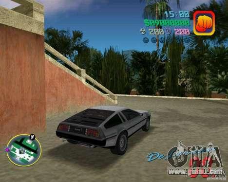 DeLorean DMC 12 for GTA Vice City back left view