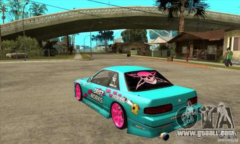 Nissan Silvia S13 Drift Works for GTA San Andreas back left view