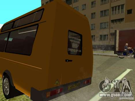 GAS SPV ruta-16 for GTA San Andreas left view