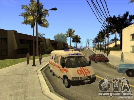 GAS 22172 ambulance for GTA San Andreas