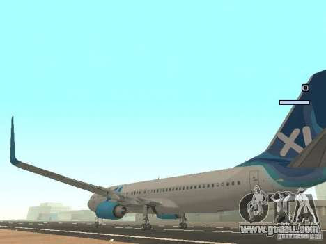XL Airways 737-800 for GTA San Andreas back left view
