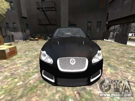 Jaguar XFR for GTA 4 upper view