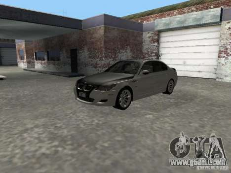 BMW M5 E60 2009 v2 for GTA San Andreas inner view