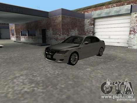 BMW M5 E60 2009 v2 for GTA San Andreas inner view
