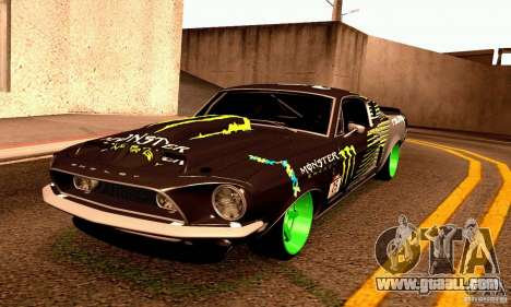 Shelby GT500 Monster Drift for GTA San Andreas side view