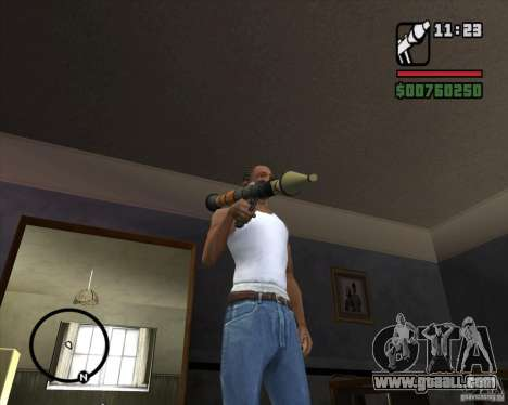 RiCkys Rocket Launcher for GTA San Andreas second screenshot