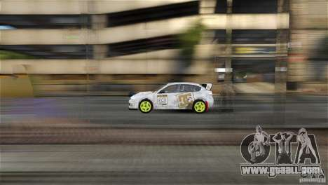 Subaru Impreza WRX STI Rallycross DC Gold Vinyl for GTA 4 back left view