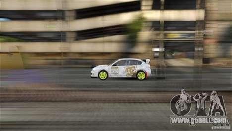 Subaru Impreza WRX STI Rallycross DC Gold Vinyl for GTA 4 back left view